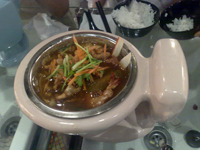 T-Bowl's Tom Yam Seafood Flaming Pot