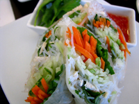Crystal Spring Roll Skin Stuff with Vege & Chicken Meat