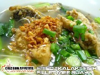 Fried Kalak Fish Fillet Mee Suah 炸魚肉清湯麵綫