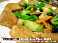 Nation Mixed Vegetables With Tofu 聯合國炒菜與豆腐